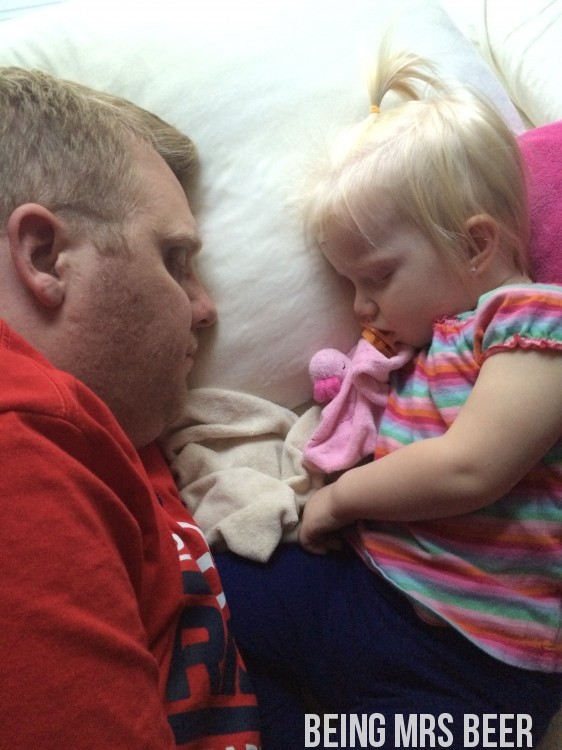 Daddy and Abbie Sleeping