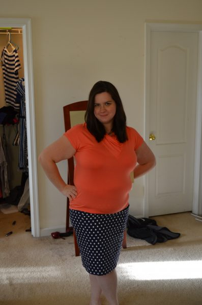 June Polka Dot Skirt in Navy