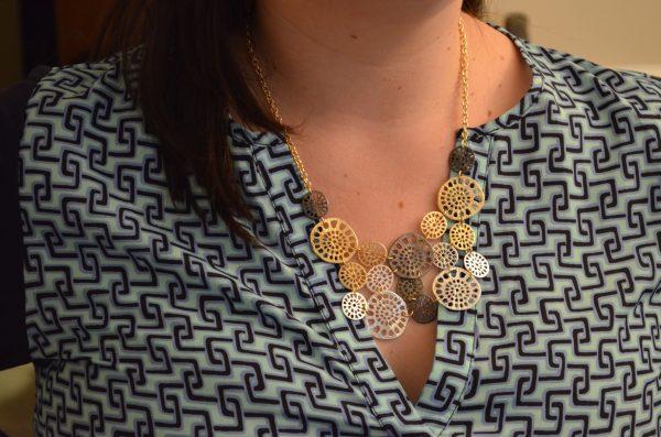 Zad Adrianna Circle Bib Necklace
