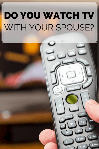 Do You Watch TV with your Spouse?