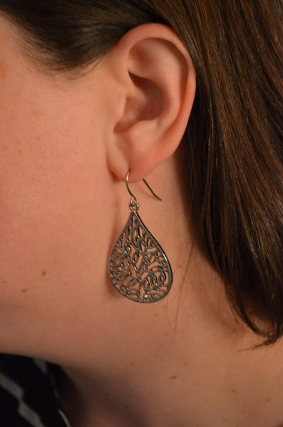 Tear Drop Pendant Earrings