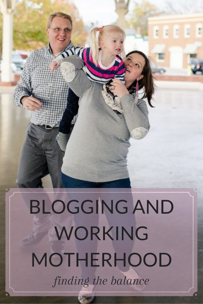 Working Motherhood and Blogging: The Balance