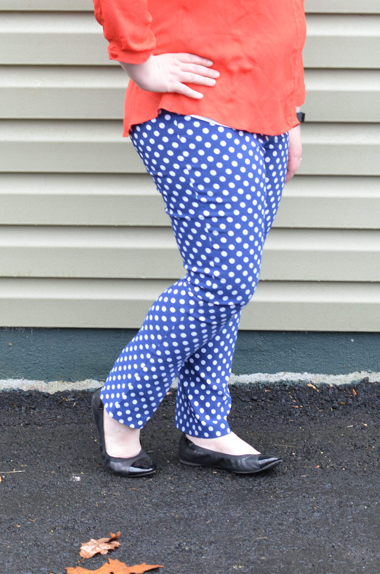 Margaret M Emer Printed Straight Leg Pant in Polka Dot!