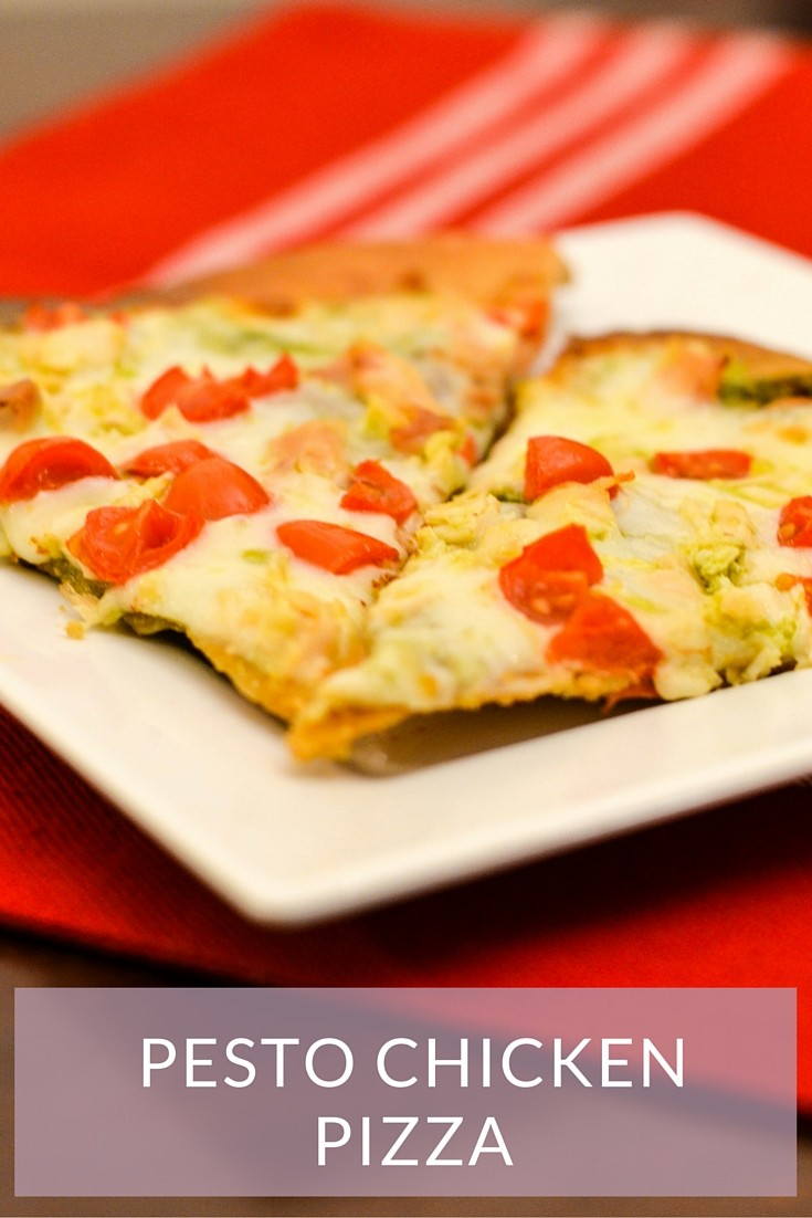 Pesto Chicken Pizza - an easy five ingredient recipe the whole family will love!