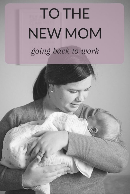 To The New Mom Going Back To Work Being Mrs Beer