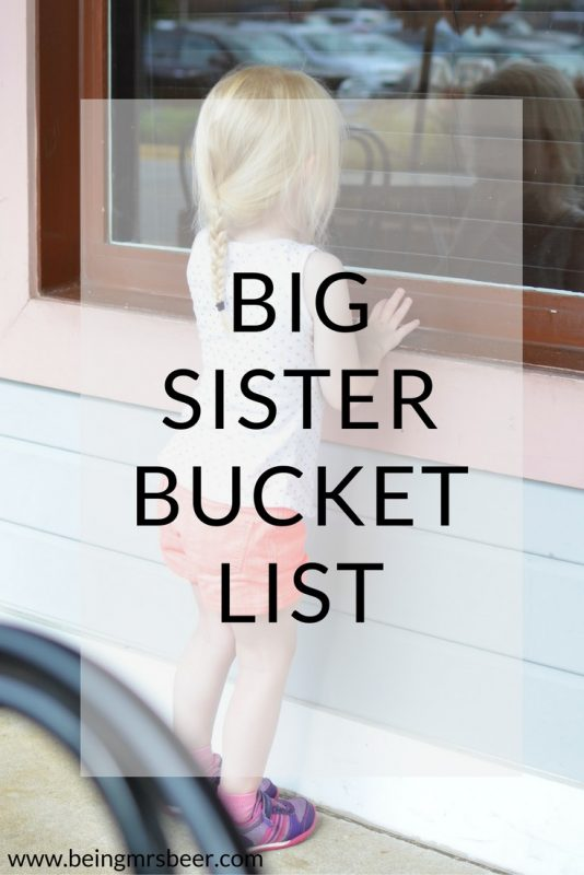 Big Sister Bucket List - Five Things to do with your only child before they become a big sibling!