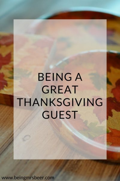 How to be a Great Thanksgiving Guest