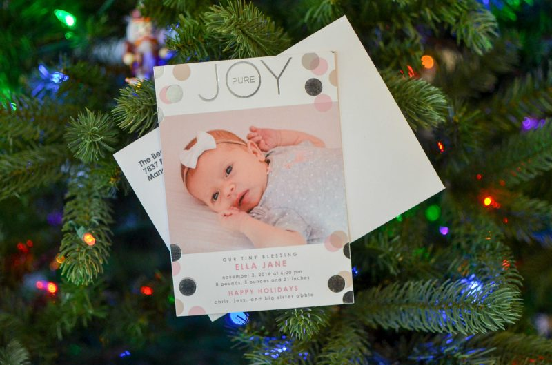 our holiday birth announcements being mrs beer