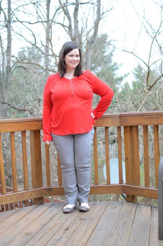 Market & Spruce Kelin Henley Knit Top