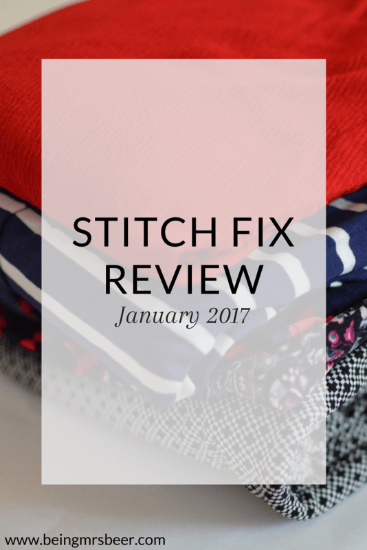 Stitch Fix January 2017 - the one where I sent it all back.