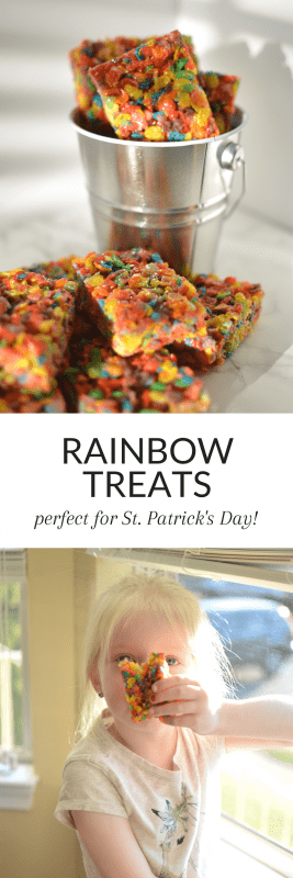 Rainbow Treats are a fun, easy to make treat perfect for your St. Patrick's Day!
