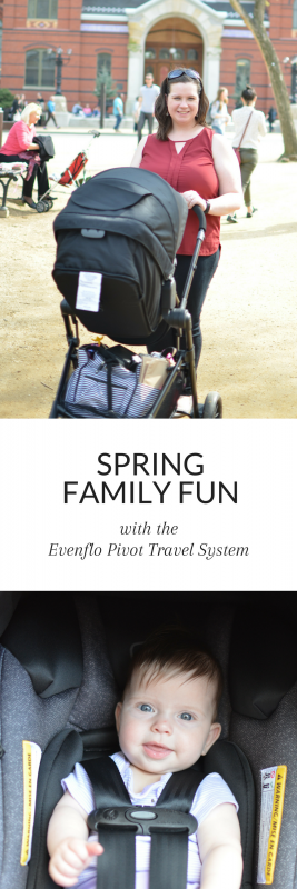 Finding the right travel system can be a challenge. I recently go the chance to review the Evenflo Pivot Travel system, and I was so impressed. Seriously, check out that basket! #sponsored