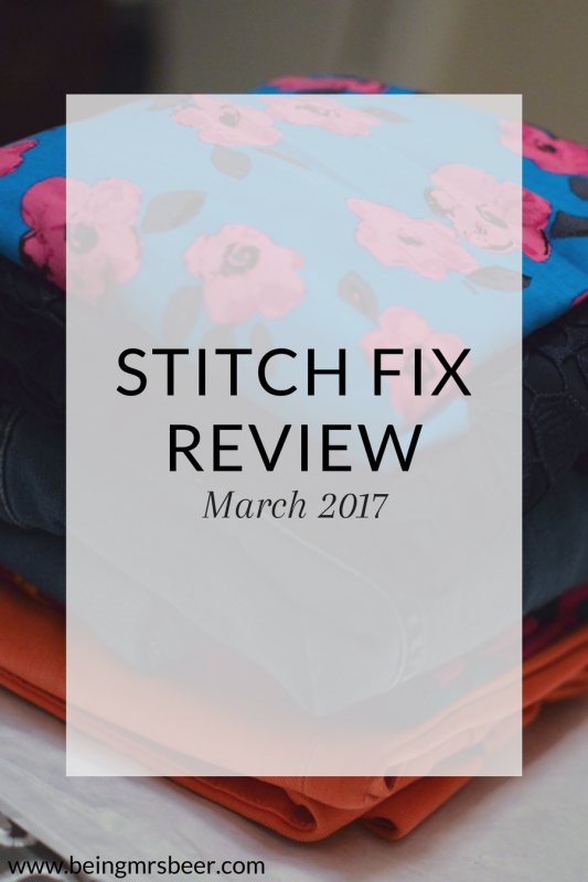 My Stitch Fix for March 2017! In this box I got one of my favorite items of all time - a pair of coral jeans perfect for spring!