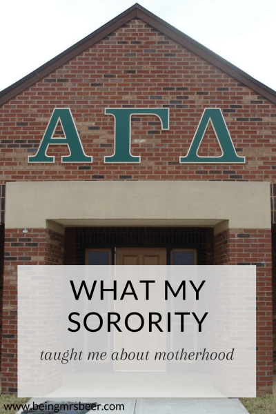 What My Sorority Taught Me About Motherhood
