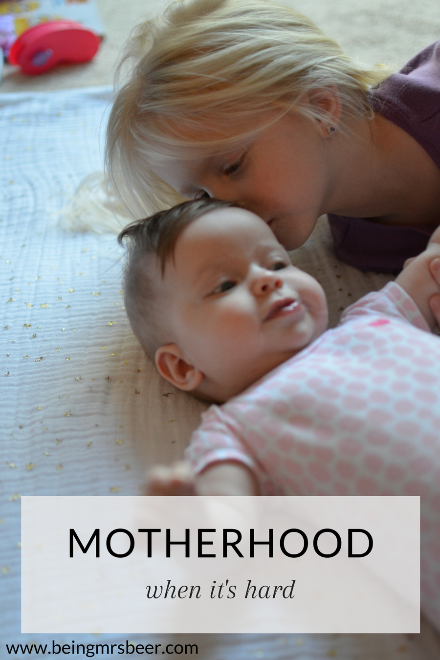 Sometimes motherhood is hard. Sometimes after having a baby, you lose yourself a little bit in the aftermath. It's not an easy transition, even when you've done it before...