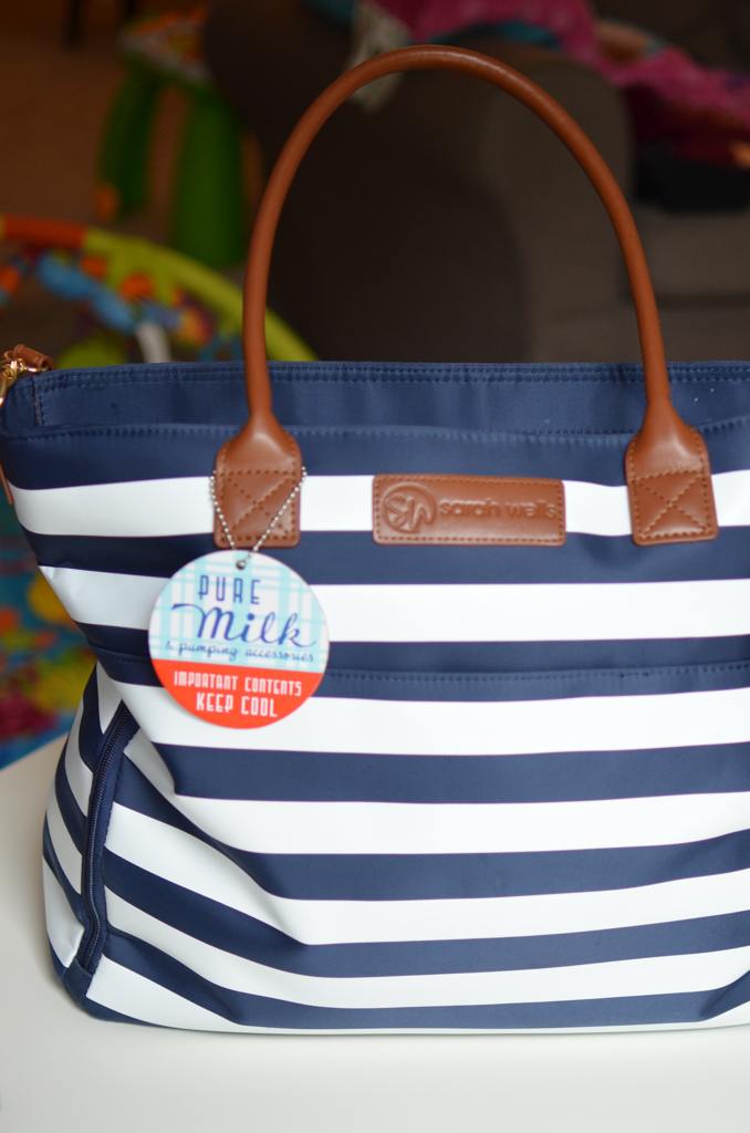 Sarah Wells Abby Bag - an essential for nursing and pumping moms as they head back to work!