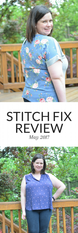 My May 2017 Stitch Fix Review - an all tops fix!