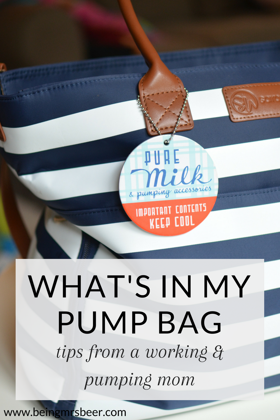 Confused about what to pack in your pump bag as you head back to work? Check out this list of what's in my pump bag!