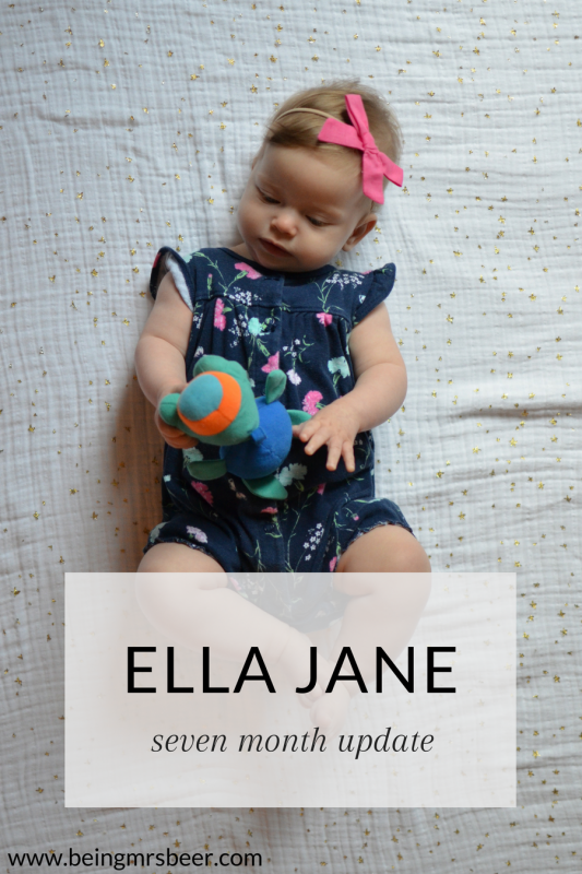 Miss Ella is seven months old! Here's what she's been up to for the past month!
