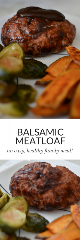 This Balsamic Meatloaf is easy, quick to put together, and kid-friendly! Who doesn't love meatloaf? A great weeknight meal for your family!