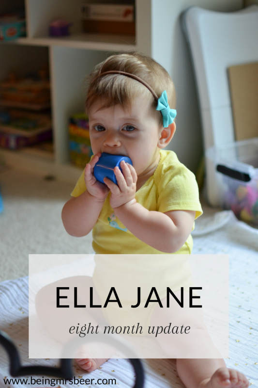 Our Ella is eight months old! Her update is on the blog!