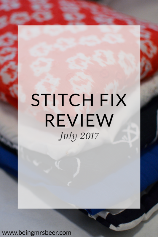 My July 2017 Stitch Fix Review featuring 41 Hawthorn, Papermoon, Loveappella and Q&A - great summer top options for work and casual wear!