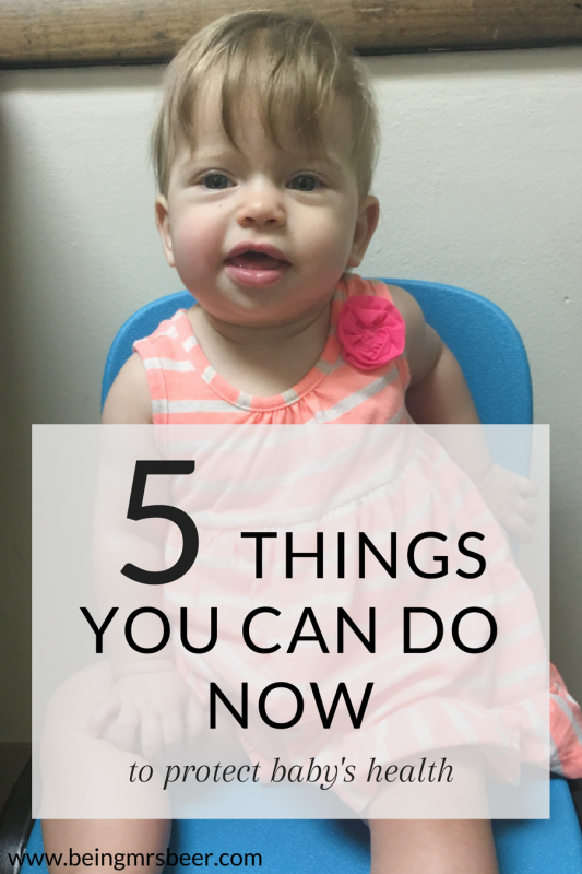 Looking to protect your baby's health? Here are five things you can do now to set them up to be healthy for life!