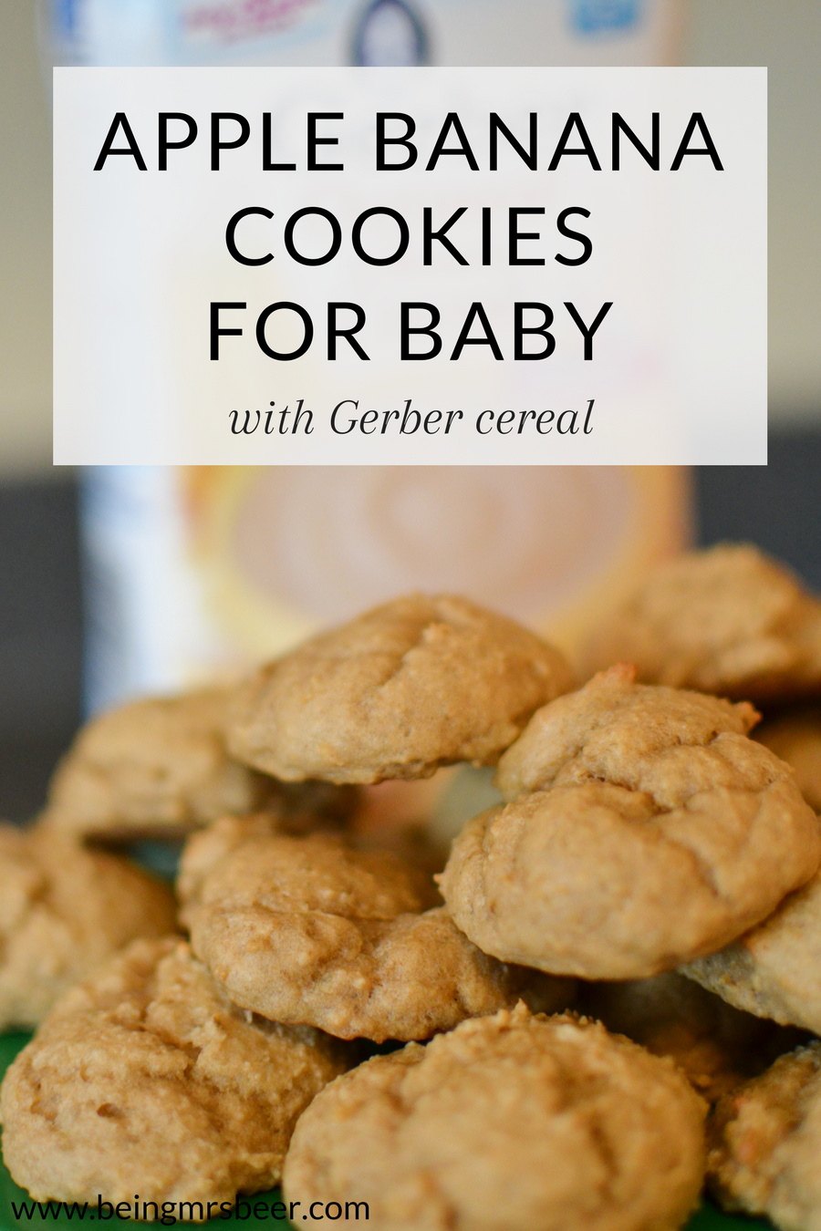 #ad These Apple Banana Cookies, made with Gerber Cereal, are the perfect treat for your little ones! Easy to make (less than 30 minutes), full of iron and calcium, and delicious. Your baby will love these cookies!