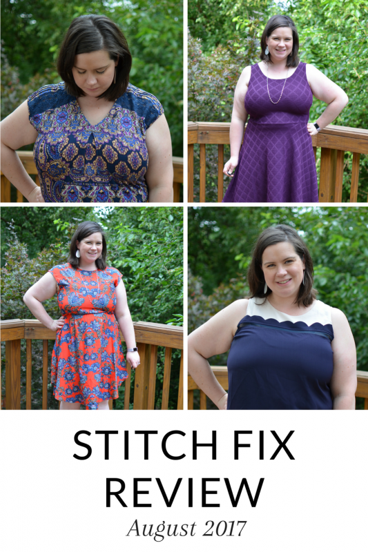 Sharing my August 2017 Stitch Fix - great end of summer pieces and gorgeous prints - click over to see what I kept!
