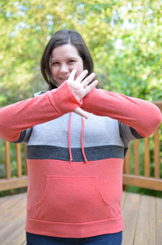 Loveappella Brena Colorblocked Knit Hoodie - Click for more info!