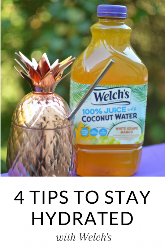#AD Do you struggle with staying hydrated? I've got four tips on the blog to help you get your daily liquids in - including using a fun cup like these pineapple ones! #hydration #health