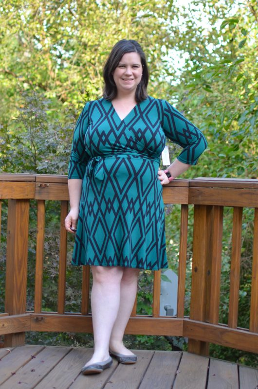 Reye Jersey Faux Wrap Dress