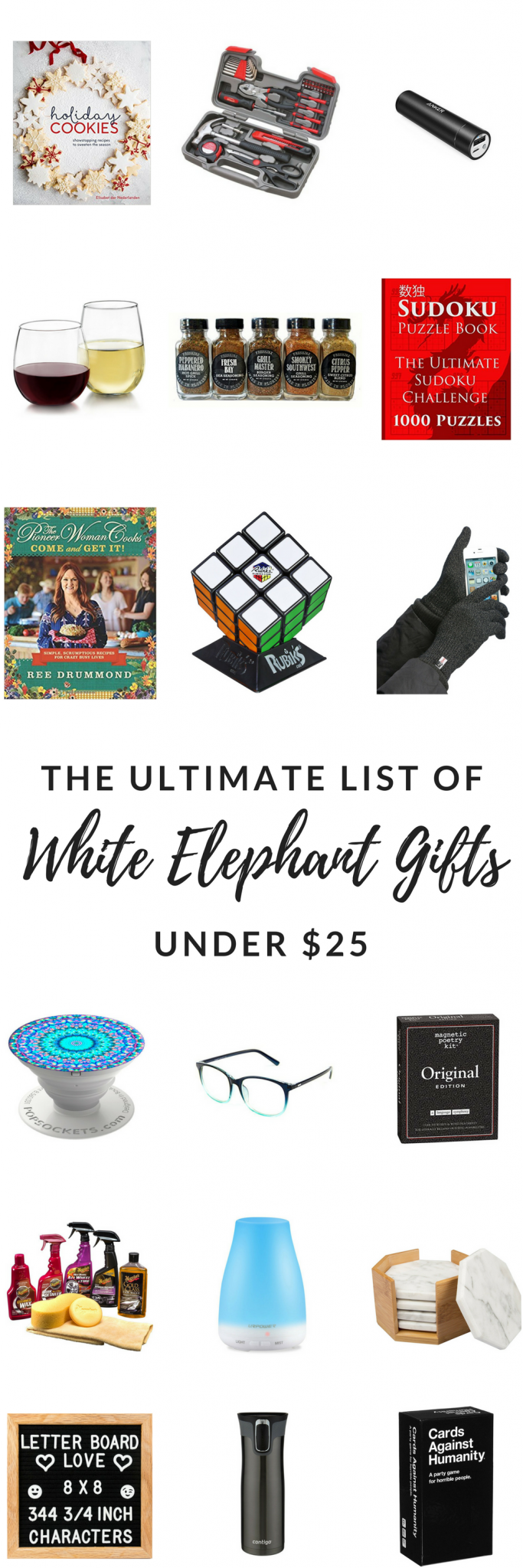 Have a work gift exchange? Check out this list of the best ideas for a White Elephant Gift Exchange - most of them gender neutral and available on Amazon! #Gifts #GiftExchange #WhiteElephant