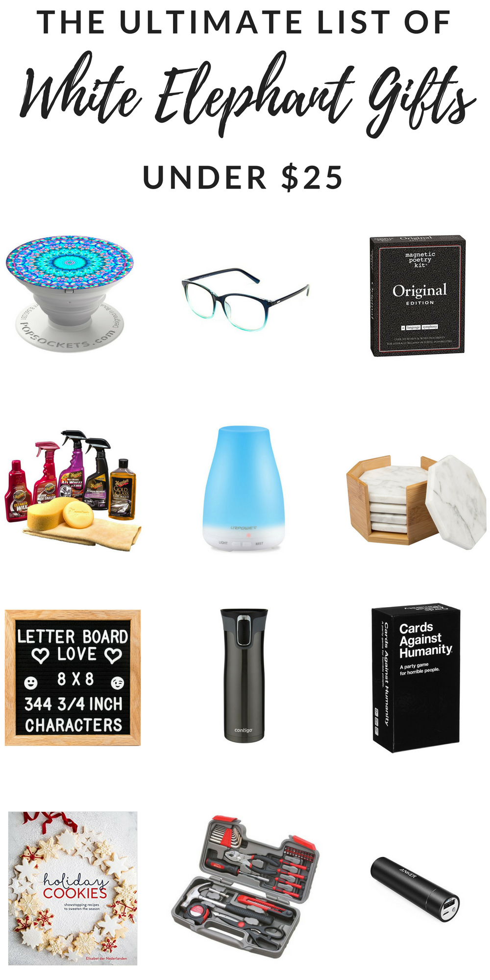 The Ultimate List Of White Elephant Gifts Under 25