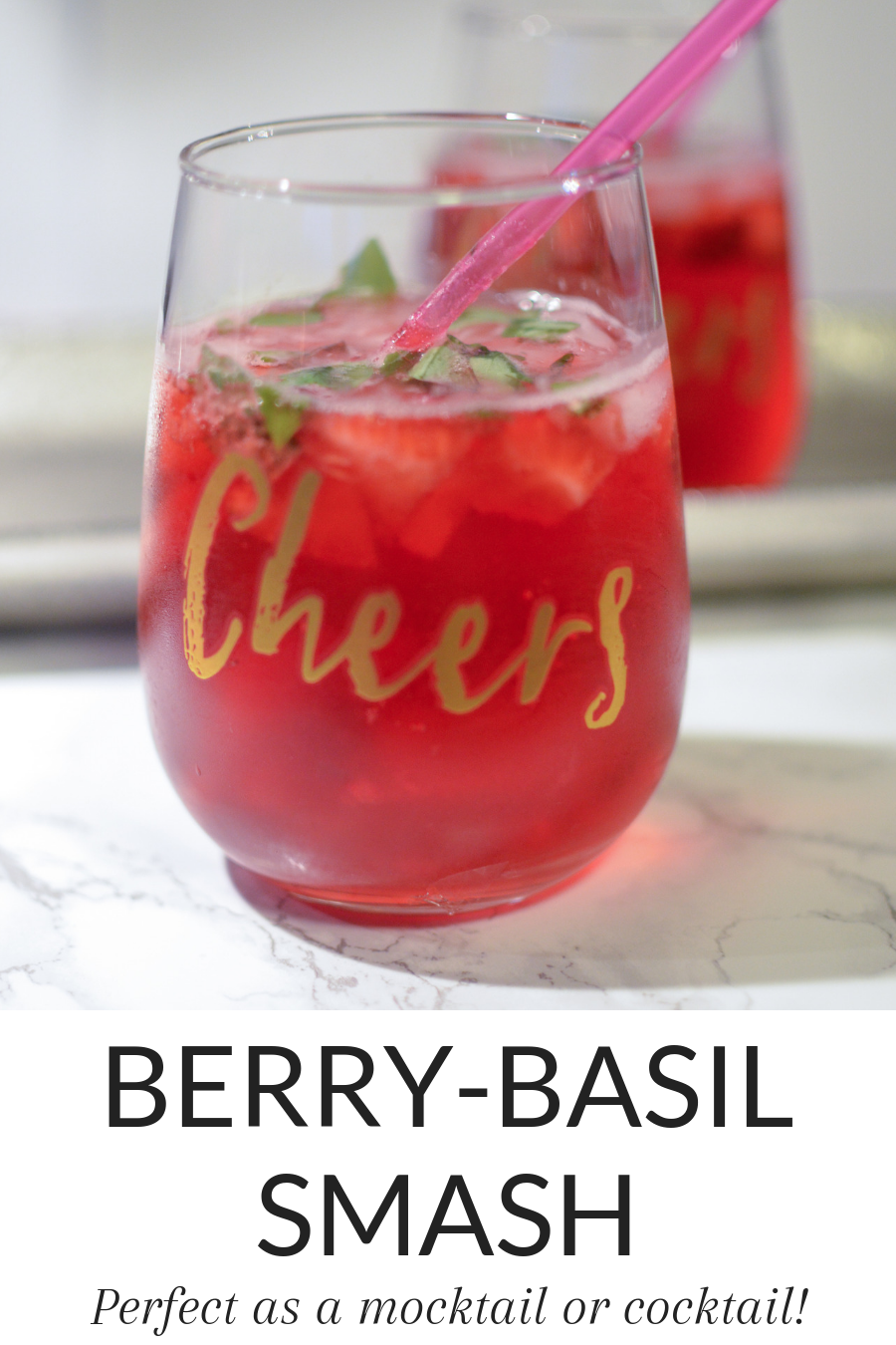#AD This Berry-Basil Smash is the perfect low calorie treat! Personalize your flavor combinations, have it as a mocktail or cocktail, and enjoy! Easy and delicious! #SparklingIce #Sparklingwater #mocktail #cocktail